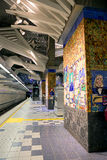 Los Angeles CA Tunnelbanauniversalstad Arkivbild