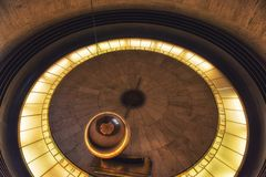 Foucault Pendulum at Griffith Observatory - Los Angeles, Califor. Los Angeles, CA, USA - February 02, 2018: Foucault Pendulum at Griffith Observatory - Los Royalty Free Stock Images