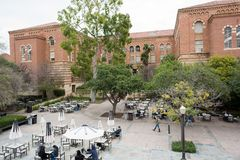 UCLA campus. LOS ANGELES, CA/USA - February 21, 2017: University of California, Los Angeles, campus. UCLA is a public university located on the Westwood area of Royalty Free Stock Photos