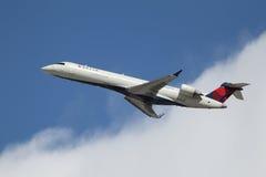 Delta Bombardier crj-701 van de Verbinding Stock Foto