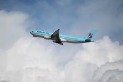 Een luchtbus A330-200 van Korean Air Royalty-vrije Stock Foto