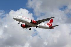 De Luchtbus A320-214 van Virgin America Stock Afbeelding