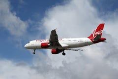 De Luchtbus A320-214 van Virgin America Royalty-vrije Stock Afbeelding