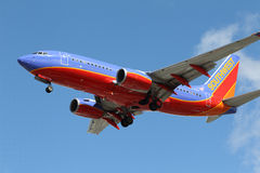 Southwest Airlines Boeing 737-7H4 Royalty-vrije Stock Foto