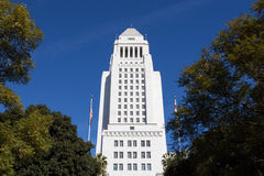 Los Angeles, California City Hall in Downtown LA. Royalty Free Stock Photo