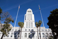 Los Angeles, California City Hall in Downtown LA. Stock Photos