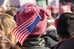 2nd Annual Women`s March - hat stock image