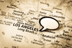 Los Angeles, California map Royalty Free Stock Images