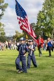 LOS ANGELES, CALIFORNIA - MAY, 26, 2018: Hundreds of scouts of a. Ll ages volunteered for the annual Memorial Day flag placement Stock Photo