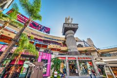 Hollywood & Highland mall on a sunny day Royalty Free Stock Photo