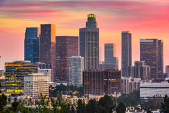 Los Angeles, California Skyline. Los Angeles, California, USA downtown skyline royalty free stock photo