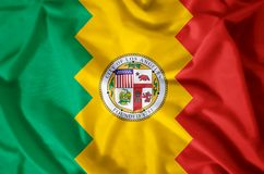 Los Angeles California. Stylish waving and closeup flag illustration. Perfect for background or texture purposes vector illustration