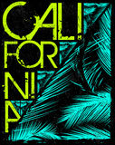 Los Angeles California t-shirt graphics. vector illustrations. Stock Photos