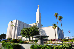 Los Angeles California Temple of Mormon Stock Photo