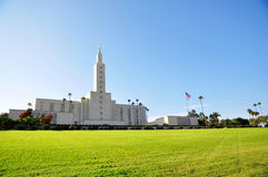 Los Angeles California Temple of Mormon Stock Photos