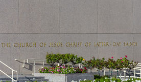 The Los Angeles California Temple Stock Images