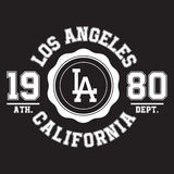 Los Angeles, California typography for t-shirt print. Sports, athletic t-shirt graphics Stock Photo