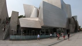 Walt Disney Concert Hall Los Angeles. Los Angeles, California, United States - August 9, 2018: entrace of Walt Disney Concert Hall, home to Los Angeles stock footage