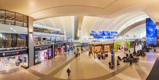 LOS ANGELES, CALIFORNIA, US - Jun 17 2017: Tom Bradley International Airport departure terminal duty free shops in Los Angeles. US stock images