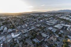 Los Angeles San Fernando Valley Aerial Lankershim at Van Owen Royalty Free Stock Image