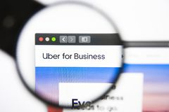 Los Angeles, California, USA - 27 December 2018: UBER BUSINESS website homepage. UBER logo visible. On screen royalty free stock photo