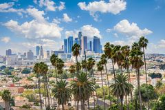 Los Angeles downtown royalty free stock images