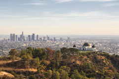 Los Angeles. California, USA downtown skyline from Griffith Park Stock Photography