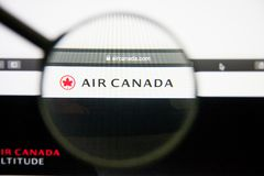 Los Angeles, California, USA - 14 February 2019: Air Canada airline website homepage. Air Canada logo visible on display. Los Angeles, California, USA - 14 royalty free stock photography