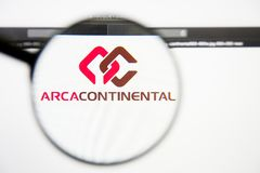 Los Angeles, California, USA - 28 February 2019: Arca Continental website homepage. Arca Continental logo visible on. Screen, Illustrative Editorial stock photo