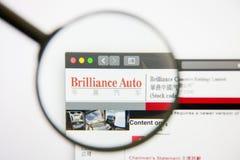 Los Angeles, California, USA - 14 February 2019: Brilliance China Automotive Holdings website homepage. Brilliance China. Automotive Holdings logo visible on royalty free stock image