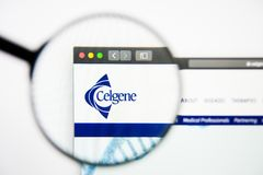 Los Angeles, California, USA - 28 February 2019: Celgene website homepage. Celgene logo visible on display screen. Los Angeles, California, USA - 28 February royalty free stock images