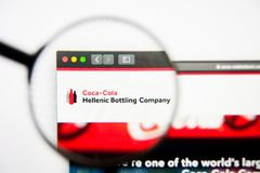 Los Angeles, California, USA - 28 February 2019: Coca-Cola HBC website homepage. Coca-Cola HBC logo visible on display. Los Angeles, California, USA - 28 stock photos