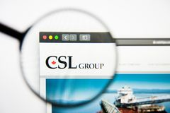 Los Angeles, California, USA - 28 February 2019: CSL website homepage. CSL logo visible on display screen, Illustrative. Los Angeles, California, USA - 28 stock photography