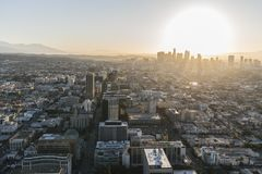 Los Angeles Early Morning Aerial Royalty Free Stock Photos