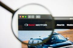 Los Angeles, California, USA - 14 February 2019: Guangzhou Automobile Group website homepage. Guangzhou Automobile Group stock photo