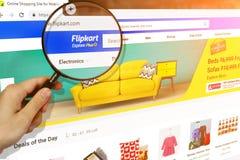 Los Angeles, California, USA - 15 February 2019: Homepage of Flipkart website on the display of PC, url - flipkart.com royalty free stock photography