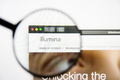 Los Angeles, California, USA - 28 February 2019: Illumina website homepage. Illumina logo visible on display screen. Los Angeles, California, USA - 28 February royalty free stock photography