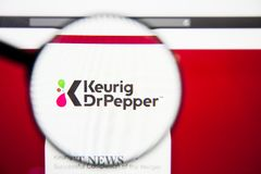 Los Angeles, California, USA - 28 February 2019: Keurig Dr Pepper website homepage. Keurig Dr Pepper logo visible on. Screen, Illustrative Editorial stock photos