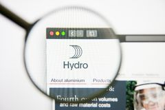 Los Angeles, California, USA - 14 February 2019: Norsk Hydro website homepage. Norsk Hydro logo visible on display. Los Angeles, California, USA - 14 February royalty free stock photography