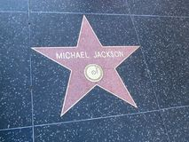 Star on Hollywood boulevard walk of fame in LA royalty free stock photos