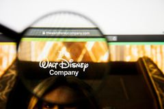Los Angeles, California, USA - 28 February 2019: Walt Disney website homepage. Walt Disney logo visible on display. Los Angeles, California, USA - 28 February royalty free stock photography