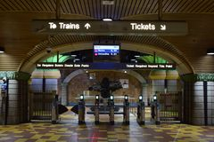 Los Angeles, California, USA - January 4, 2019: Metro Station Hollywood / Vine royalty free stock photography
