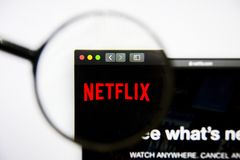 Los Angeles, California, USA - 25 January 2019: Netflix Media website homepage. Netflix Media logo visible on display. Los Angeles, California, USA - 25 January royalty free stock images