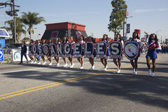 Los Angeles, California, USA, January 19, 2015, 30th annual Martin Luther King Jr. Kingdom Day Parade, LA all district marching ba Royalty Free Stock Images