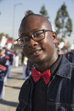 Los Angeles, California, USA, January 19, 2015, 30th annual Martin Luther King Jr. Kingdom Day Parade, young black man with glasse Royalty Free Stock Photos