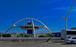 Los Angeles, California, USA - July 9 2017: LAX International Airport. The iconic space age theme building at LAX Airport on a sunny day Royalty Free Stock Image
