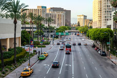 LOS ANGELES, CALIFORNIA/USA  - JULY 28 : Traffic in Los Angeles Stock Images