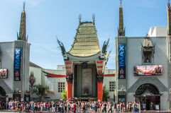 Los Angeles, California, USA - June 15, 2014: Entrance to the famous Chinese Theatre. Main entrance to the famous Chinese Theatre stock photos