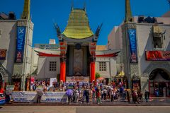 Los Angeles, California, USA, JUNE, 15, 2018: Historic Grauman`s Chinese Theater in Los Angeles, CA. Opened in 1922 this. Hollywood landmark is on the Hollywood stock photos
