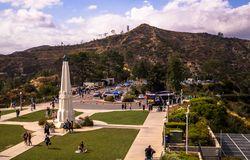 Walk to Griffith Park in Los Angeles. Famous Tourist Attraction and rest area Royalty Free Stock Photo